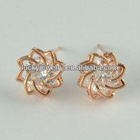Diamond Stud Earrings 3 Gram Gold Beautiful Designed Earrings