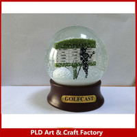 Resin Golf Club Snowglobe /100mm diameter glass snow globe