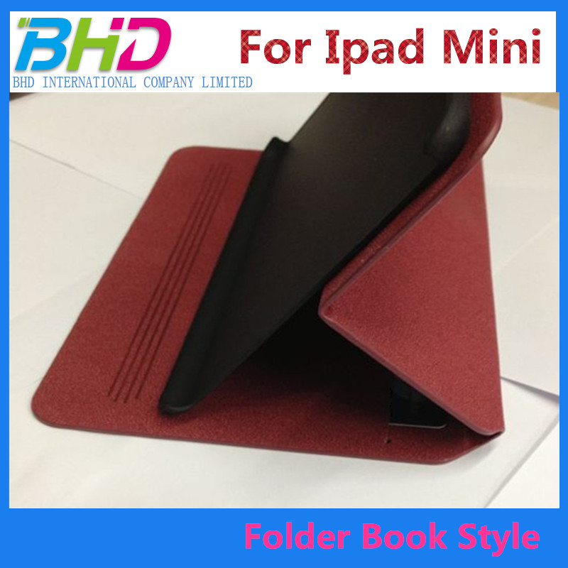 Book leather case for ipad mini with stand