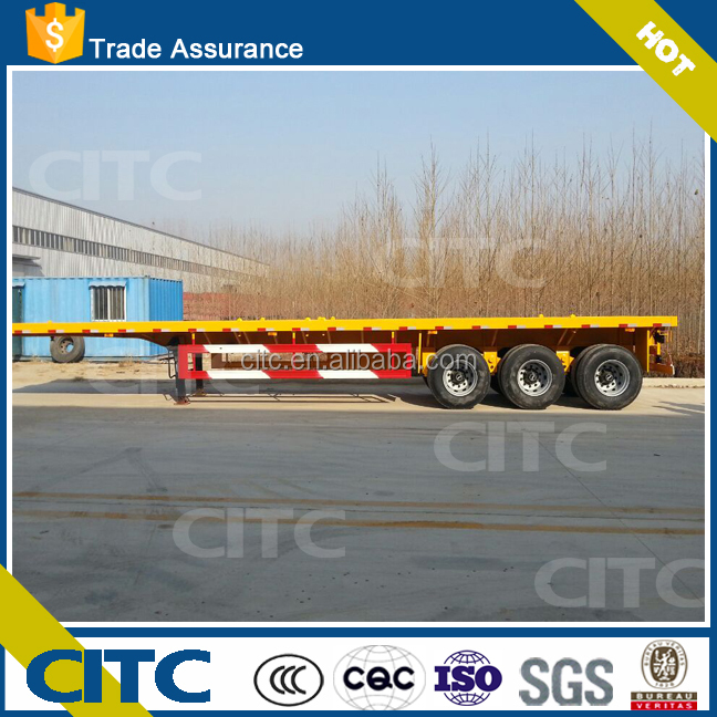 3 axle 40ft 40 tons capacity flatbed used cargo container prices