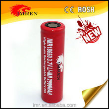 USA Trademark IMREN 18650 rechargeable lithium 18650 battery pack 1s2p 2900mah