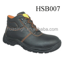 Men's black genuine leather steel toe cap special industrial safety shoes