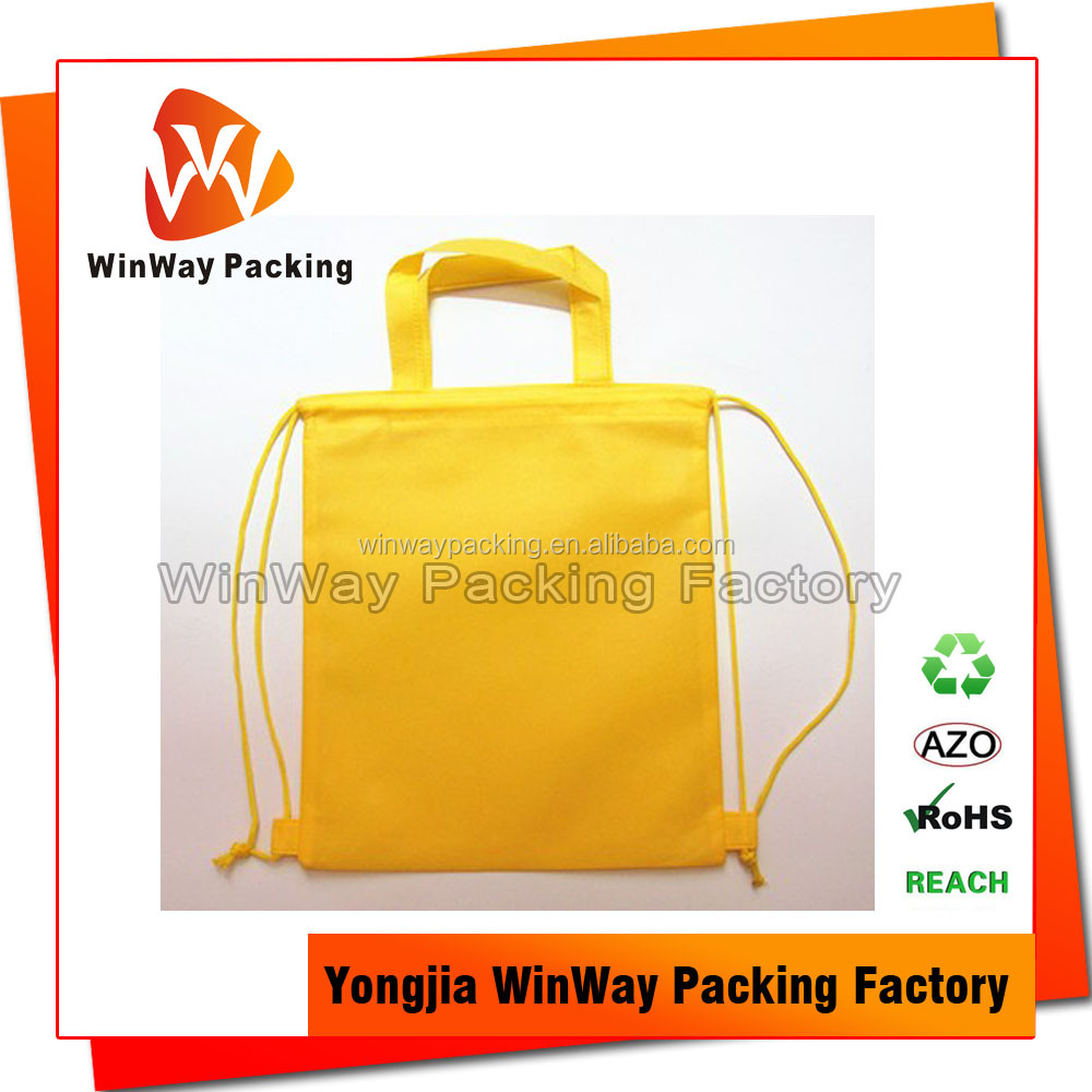 Wholesale Cheap Price Reusable Non Woven Small Drawstring Bag