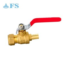 "USA eco-friendly copper forged two piece body 3/4"" red handle PEX *O.D. copm full port brass ball valve"