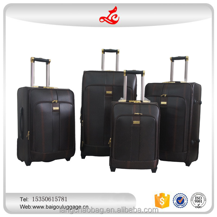 "Pu personalized luggage sets Trolley Luggage Set oem 19""23""26""29inch 2Wheels hot sale 4 Piece vintage luggage set"
