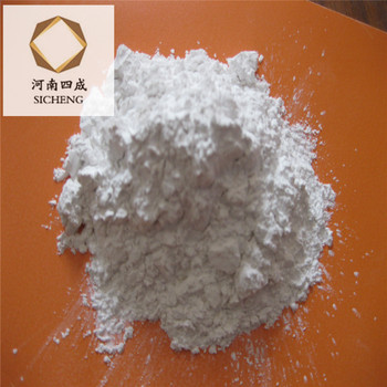 White aluminum oxide powder for polishing hard contact lenses