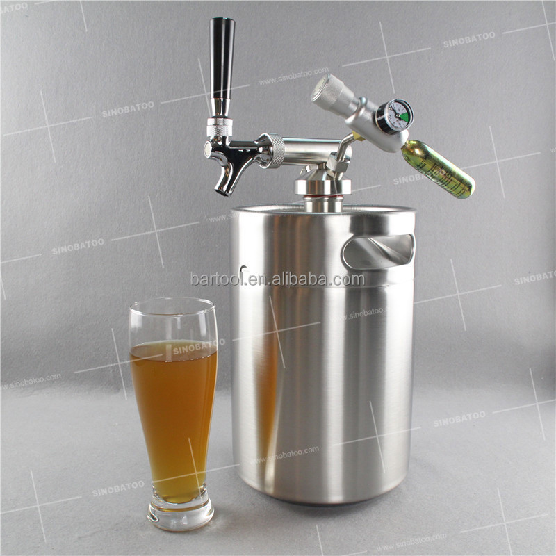 5L stainless steel beer home kegs for beer or coffee tapping systems