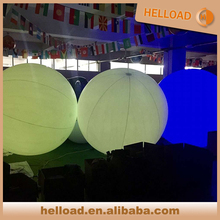 1m-2m size PVC inflatable Led lighting interactive zygote ball/ throw ball