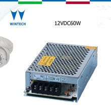 12v 5a variable voltage 60w single output swtiching power supply with circuit breaker protection
