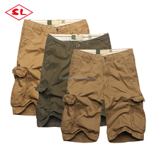 men's woven khaki shorts men work shorts men short cargo pants