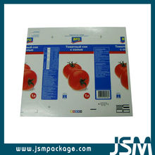 Aseptic paper camay pac brick pak baseline beverage shelf packaging