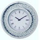Luxury Celebrity Interiors Diamond Floating Crystal Wall Clock