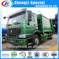 Superior quality Sinotruk HOWO 6 wheels 4x2 driven model 12T refuse disposal truck from factory direct sale