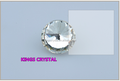 glass stones foil backed for bag ,Round shape crystal rivoli for shoes,Factory directly high quality 20mm rhinestone