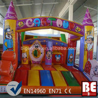 Commercial characters air bouncer inflatable trampoline