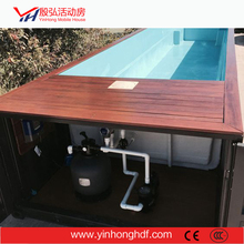 Summer Cooling Swimming Pool Container House