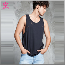Sports tank top fitness quick dry muscle vest for men gym wear custom