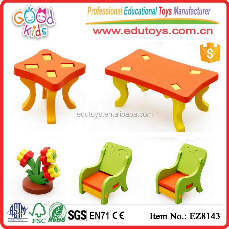 2017 Hot Sale Wooden Doll House Furniture Toy Wooden Mini Furniture for Wholesale