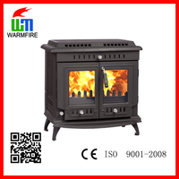 CE passed effective wood fuel enameled cast iron prity stove