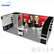 Detian Offer HAIR fair trade show booth construction exhibition stands 10*20 exhibition booth construction