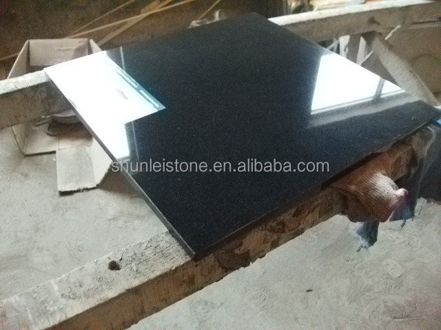 Antique New Shanxi black granite tiles with golden spots