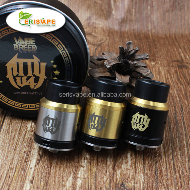 Aliexpress Russian hot selling atomizer vapebreed atty rda v4 with 510 connector bottom feeder