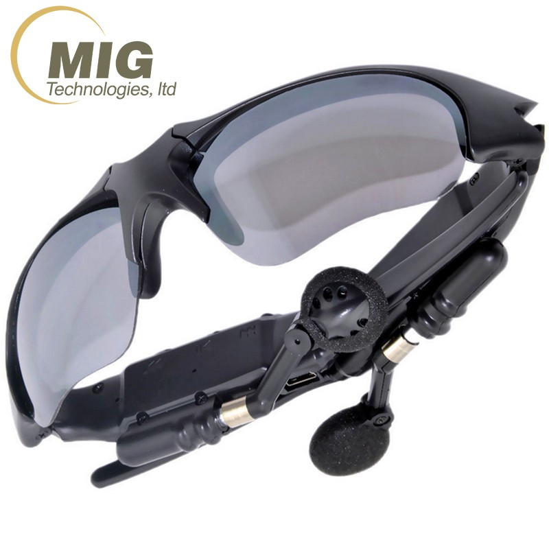 Head Wearing Wireless Bluetooth Headset Sunglasses Anytime you Wear it Very Clear