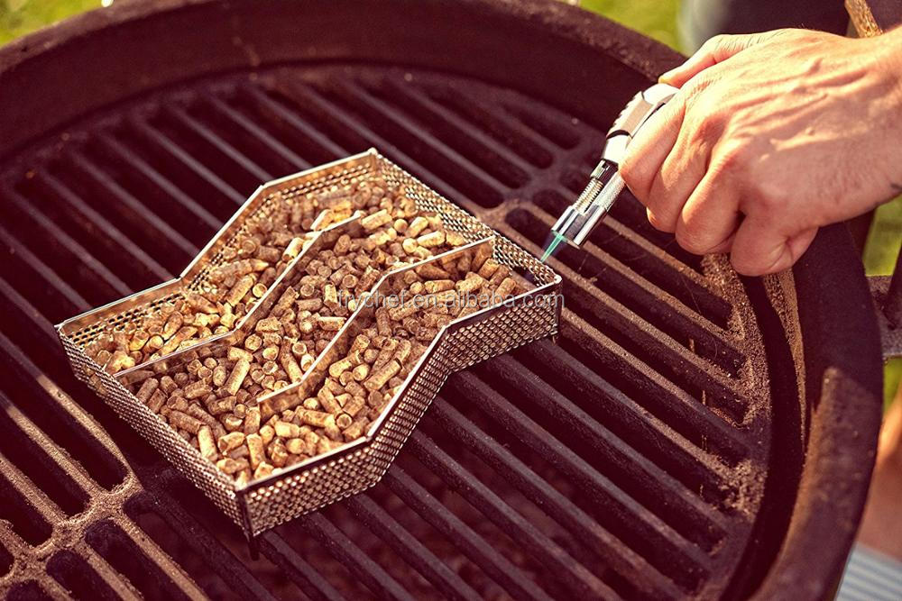Cold Smoke Generator Barbecue Meat Smoking Accessories Smoker Box for BBQ Wood Chips