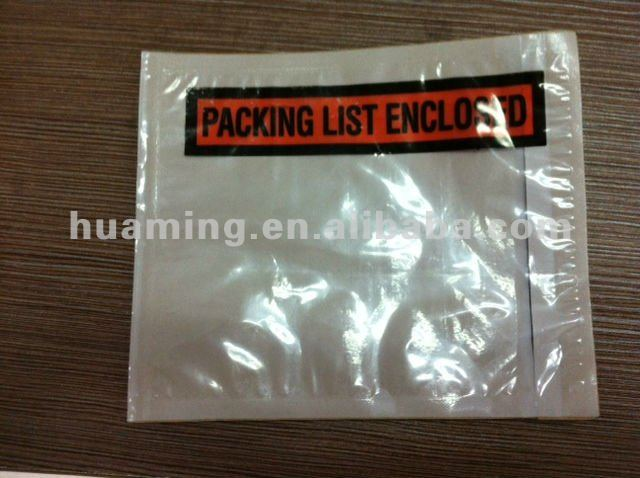 Clear Self Adhesive Packing List Envelope