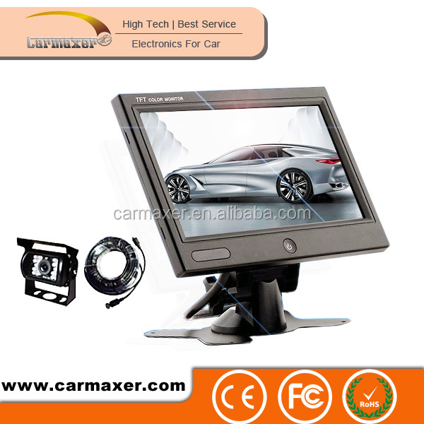 one button high pixels digital screen 7inch rear view camera system for car + bus + truck use