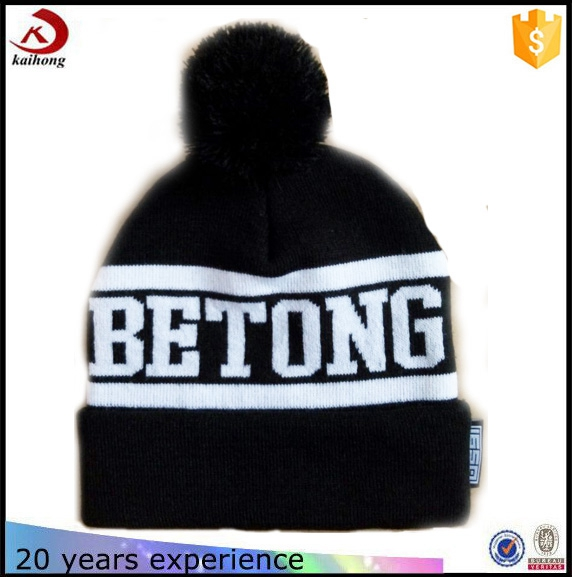 high quality cheap custom knitted crochet hat ladies beanie/winter hat