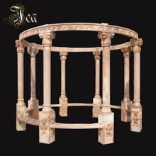 Decorative assembly outdoor garden round marble stone gazebo