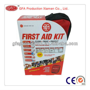 GFA Home/Outdoor/Travel first aid kit 101pcs CE