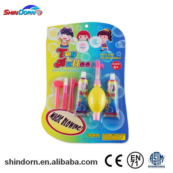 Magic balloon glue, promotion blowing bubble balloon toy
