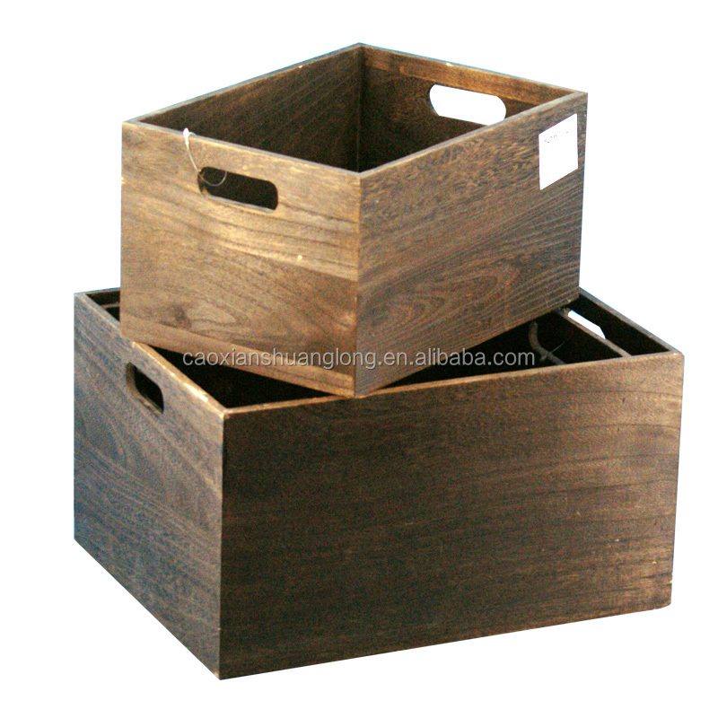 Shuanglong factory supplier vintage luxury used wood for Where do i find wooden crates