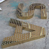High Luminance Punching Metal Letters Logos Led Light Sign