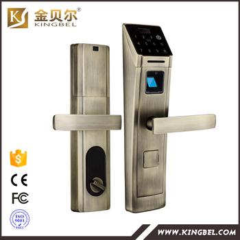 Intelligent Digital cipher and card senser remote control fingerprint lock