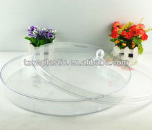 Round plastic cake container with lids,made of plastic PS