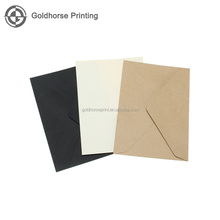 Vintage Brown White Black Kraft Blank Mini Paper Window Envelopes Wedding Invitation Envelope Gift Envelope 3 Color