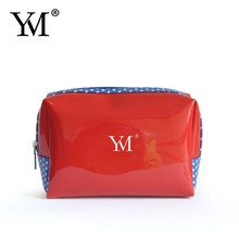 2017 fashion promotional toiletry patent PVC make up pouch for lady