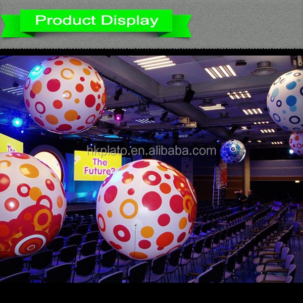 pvc led helium sphere changing color balloon remote