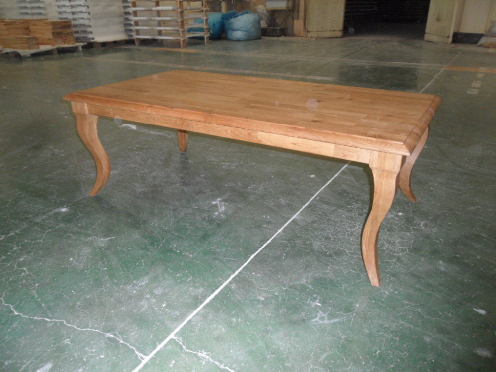 Antique Classic Design Indoor Furniture Solid Slab Dining Table Solid Wood Coffee Table