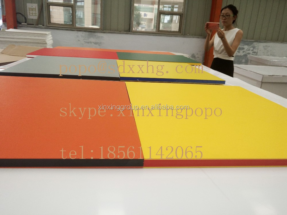 Double Colors and Three Layers Embossed HDPE Sheet /UV Resistant HDPE two colored Plastic Sheet