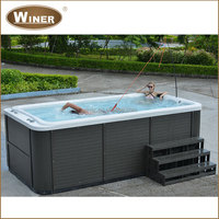 Cheap Acrylic Mini Portable Outdoor Swim Spa Whirlpool Massage Swimming Pool