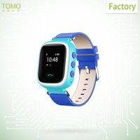 Leather wrist band best micro sim card watch gps hand watch mobile phone for kids