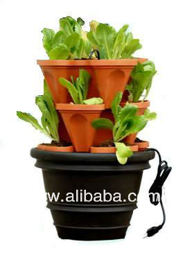 Vertical Garden Hydroponics Tower Growing System Kits - In Greenhouse - With Nutrients & Media - Unit Machine Equipment