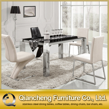 Modern rectangle second hand dining table and chairs