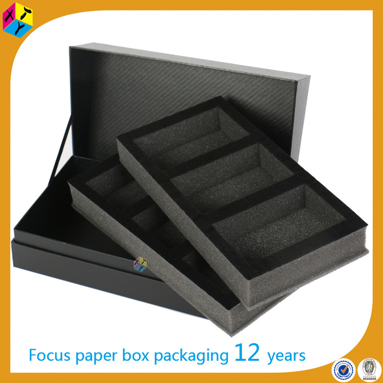 rectangular origami paper black plain gift boxes
