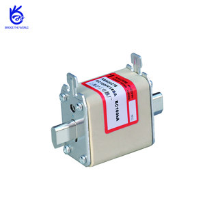 AC1000V Square Knife Edge type fast porcelain fuse with micro switch