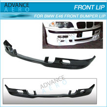 FOR 1999-2004 BMW E46 M3 3-SERIES 4DRS POLY URETHANE FRONT BUMPER LIP SPOILER PU BODY KIT